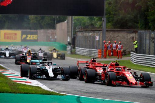 Kimi Raikkonen Ferrari GP Italie 2018 als Poster