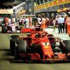 Kimi Raikkonen Ferrari GP Singapore 2018 als Poster
