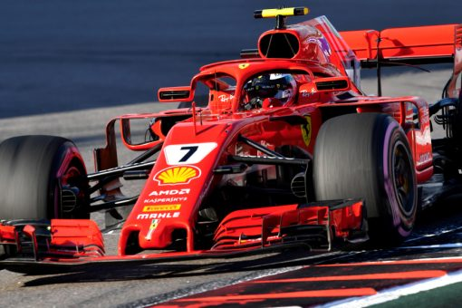 Kimi Raikkonen Ferrari GP Rusland 2018 als Poster