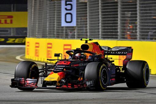 Max Verstappen Red Bull Racing GP Singapore 2018 als Poster