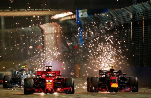 Foto Max Verstappen start GP Singapore