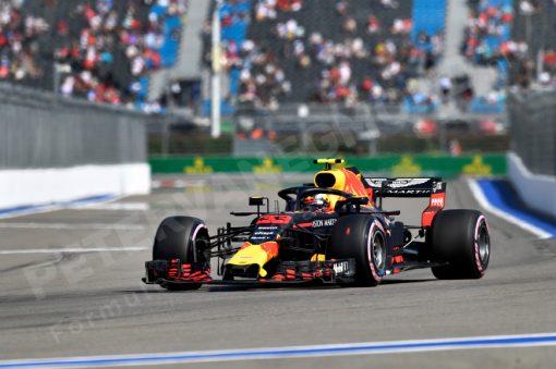 Max Verstappen Red Bull Racing GP Rusland 2018 als Poster