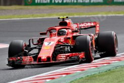 Kimi Raikkonen Ferrari GP Japan 2018 als Poster