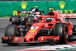 Kimi Raikkonen Ferrari Mexico 2018 als Poster