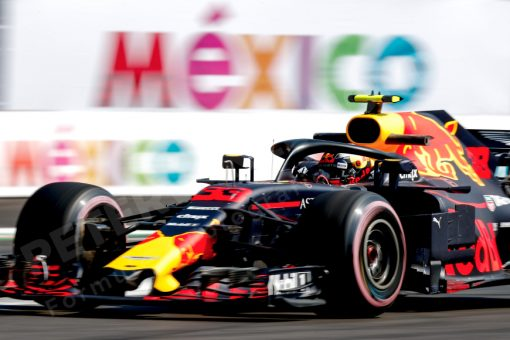 Max Verstappen Red Bull Racing GP Mexico 2018 als Poster