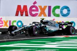 Valtteri Bottas - Mercedes tijdens de GP van Mexico, Formule 1 Seizoen 2018