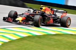 Max Verstappen Red Bull Racing GP Brazilie 2018 als Poster