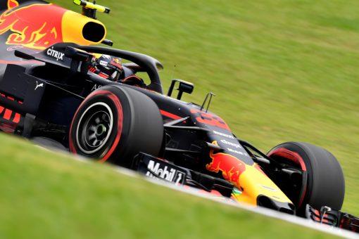 Max Verstappen Red Bull Racing GP Brazilie 2018 als Poster
