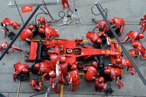 Kimi Raikkonen Ferrari Pitstop