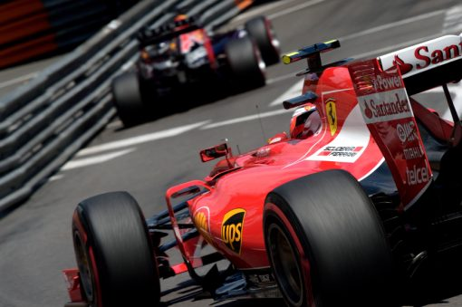 Kimi Raikkonen - Ferrari tijdens de Grand Prix van Monaco Formule 1-Seizoen 2015