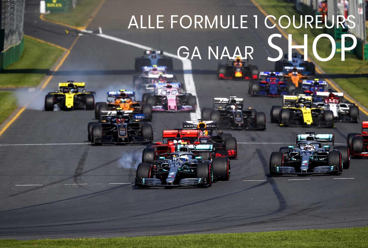 Foto's van diverse F1 coureurs met o.a. Max Verstappen