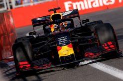 Max Verstappen actie GP Baku 2019