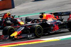 Max Verstappen met Pierre Gasly 2019