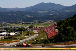 Max Verstappen in actie tijdens de GP Oostenrijk