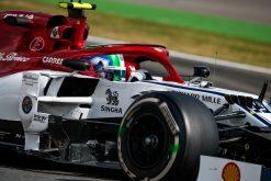 Antonio Giovinazzi in actie GP Duitsland 2019