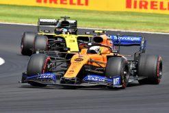 Lando Norris met Daniel Ricciardo race foto GP Engeland 2019