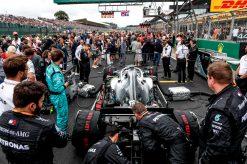 Lewis Hamilton op de grid voor de Start Foto GP Engeland 2019