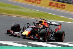 Max Verstappen in actie foto GP Engeland 2019