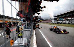 Max Verstappen Finish Foto - GP Duitsland 2019