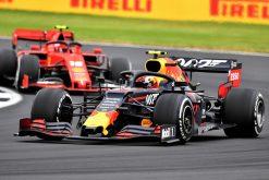 Pierre Gasly in de race met Charles Leclerc GP Engeland 2019