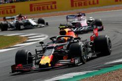 Pierre Gasly actie in de race Foto GP Engeland 2019