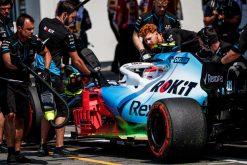 Robert Kubica tijdens een pitstop vrije training GP Duitsland 2019