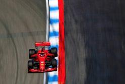 Sebastian Vettel in actie foto tijdens de GP van Duitsland