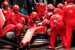 Sebastian Vettel Pitstop Foto - GP Duitsland 2019
