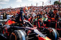 Max Verstappen op de grid foto GP Hongarije 2019