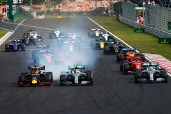 Max Verstappen start foto van de GP van Hongarije 2019