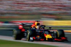Max Verstappen actie foto race GP Hongarije 2019