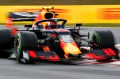 Pierre Gasly in actie foto tijdens de GP van Hongarije 2019