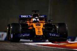Carlos Sainz, McLaren in actie tijdens de vrije training GP Abu Dhabi 2019 Actie Foto