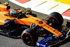Lando Norris, McLaren in actie tijdens de vrije training GP Abu Dhabi 2019 Actie Foto