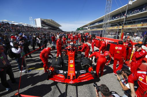 Sebastian Vettel Grid Amerika 2019