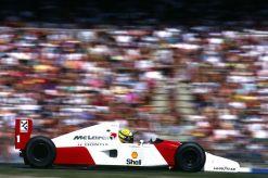 Ayrton Senna McLaren GP Duitsland actie foto 1992