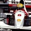Ayrton Senna McLaren Monaco actie foto 1993