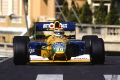Nelson Piquet Benetton Monaco actie foto 1991
