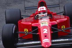 Nigel Mansell Ferrari GP Monaco actie foto 1990