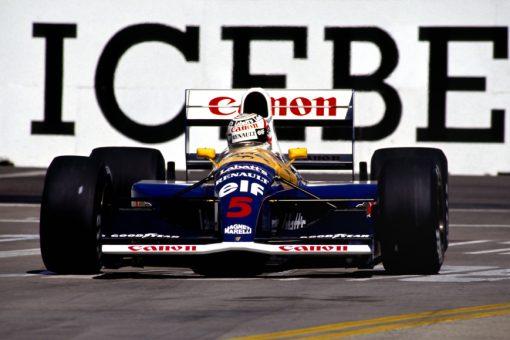 Nigel Mansell Williams Amerika actie foto 1991