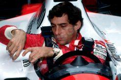 Ayrton Senna Spiegeltje Portret Belgie 1990