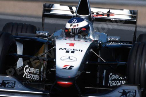 Mika Hakkinen McLaren Actie Canada 1999