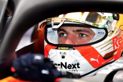 Max Verstappen Helm Foto F1 Test 2020