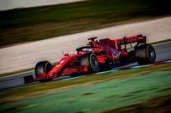 Sebastian Vettel, Ferrari F1 Test 2020